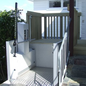 Residential Vestner Platform lift that can be services by us at GB Lift, Hoists and Cranes