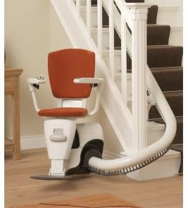 Gb Lifts, Hoists and Cranes can provide maintenance and installation services for your Flow II Curved Stair Lift