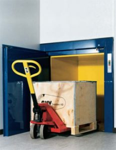 GB Lifts, Hoists and Cranes are able to provide installation and maintenance services to your ISO-D Floor Loading Service lift with a swing door
