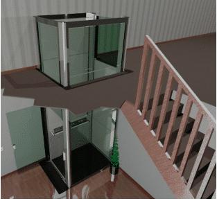 Vestner Platform Lift Residential-Disabled-Lift-indoors